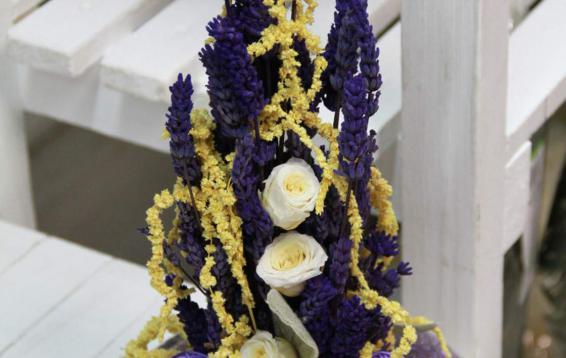 Лаванда, амарант, чистец и розы